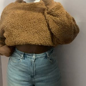 Cute Brown Gap Fuzzy Sweater/Sweatshirt